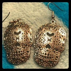 Sugar skull earrings día de los muertos